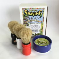 Mens Shaving Soap and Shaving Brush Kit