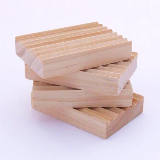 Natural Wooden Soap Rack