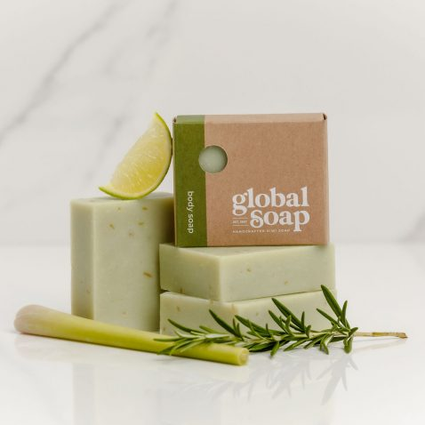 NZ Handmade Natural Lemongrass, Rosemary & Lime Soap