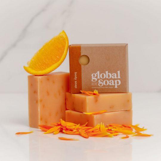 NZ Handmade Natural Calendula & Orange Soap