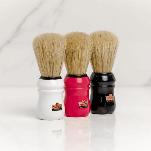 Omega Shaving Brush Boar Bristle