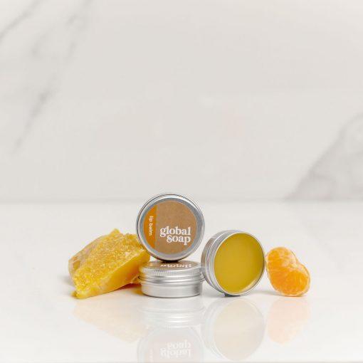 NZ Handmade Natural Mandarin Scented Beeswax Lip Balm