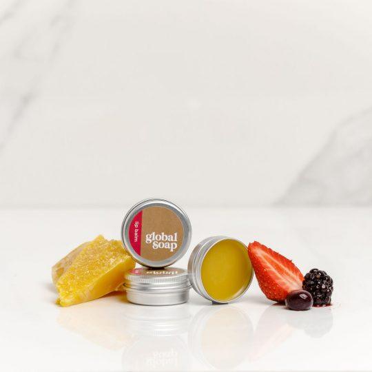 NZ Handmade Natural Berry Scented Beeswax Lip Balm