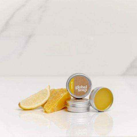 NZ Handmade Natural Lemon Scented Beeswax Lip Balm