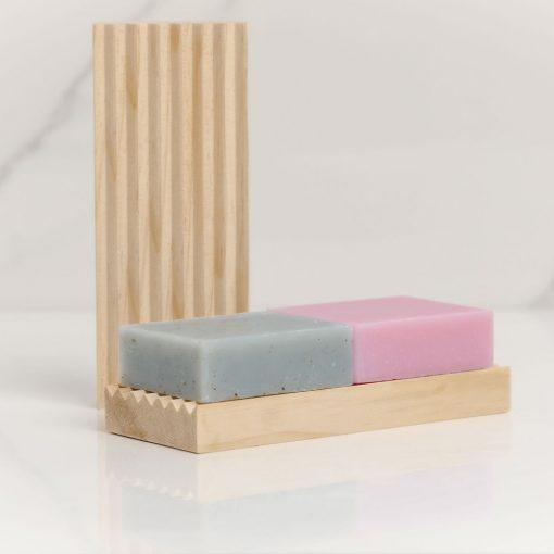 Natural Wooden Soap Rack Large